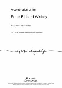 Peter Wisbey Tribute Archive