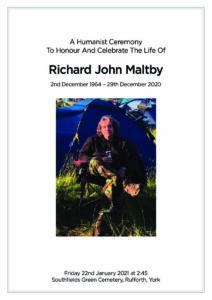 Richard John Maltby Order of Service