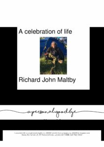 Richard John Maltby Tribute Archive