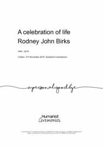 Rodney-John Birks-Tribute Archive