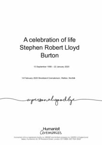 Stephen Robert Lloyd Burton Tribute Archive