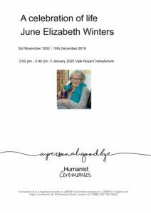 June Elizabeth Winters-Tribute Archive
