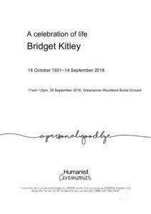 Bridget Kitley Tribute Archive