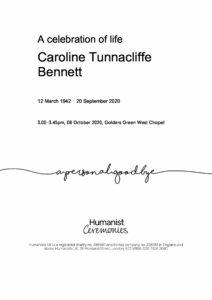 Caroline Tunnacliffe Bennett Tribute Archive
