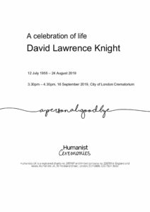 David Lawrence Knight Tribute Archive