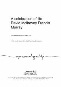 David Mcilrevey Francis Murray Tribute Archive