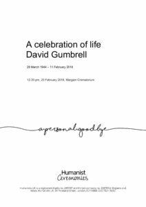 David Gumbrell Tribute Archive
