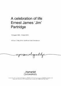 Ernest James Partridge Tribute Archive