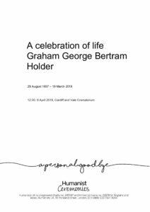 Graham George Bertram Holder Tribute Archive