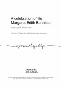 Margaret Edith Bannister Tribute Archive