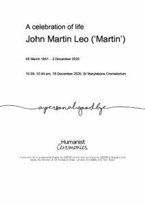 Martin Leo Tribute Archive