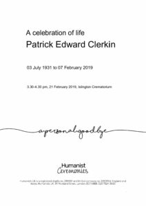 Patrick Clerkin tribute archive