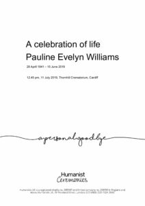Pauline Evelyn Williams Tribute Archive