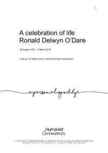 Ronald Delwyn ODare Tribute Archive