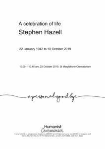 Stephen Hazell Tribute Archive