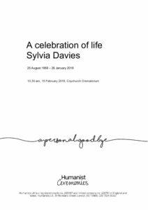 Sylvia Davies Tribute Archive