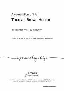 Thomas Hunter Tribute Archive