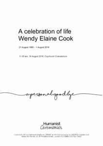 Wendy Elaine Cook Tribute Archive