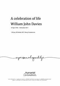 William John Davies Tribute Archive