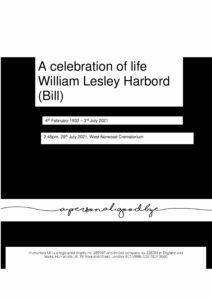 William Lesley Harbord Tribute Archive