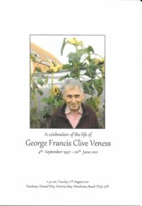George Francis Clive Veness Order of Ceremony