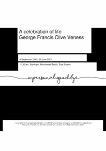 George Francis Clive Veness Tribute Archive