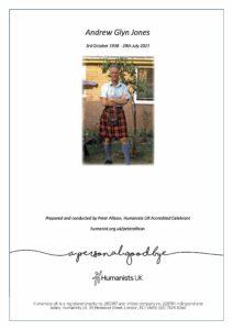 Andrew Glyn Jones Tribute Archive