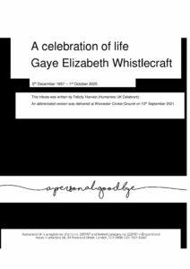 Gaye Elizabeth Whistlecraft Tribute Archive